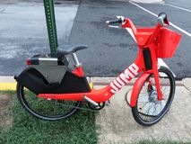 Red Jump Rental Bike Royalty Free Stock Photos