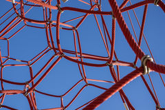 Red Jungle Gym Stock Photography