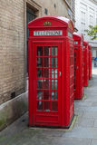 Red K2 London phone boxes Royalty Free Stock Photo