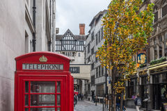 Red K6 telephone box London Royalty Free Stock Photo