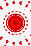 Red kaleidoscope Stock Image