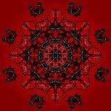 Red kaleidoscope butterflies