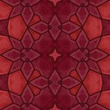 Red kaleidoscope pattern - background texture Stock Images