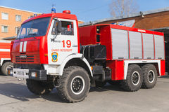 Red Kamaz 43114. Russian fire engine Royalty Free Stock Photography