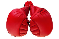 Red karate boxing gloves. Stock Photography