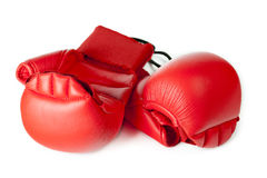 Red karate gloves. Stock Image
