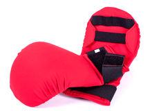 Red karate gloves Stock Photography
