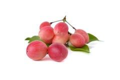 Red karonda fruit isolated on white Royalty Free Stock Images