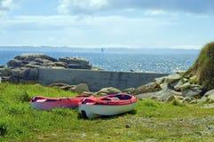 Red kayak Royalty Free Stock Images
