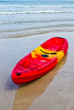Red Kayak Stock Image