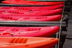 Red Kayak , Cheow Lan lake,  Thailand Stock Photo