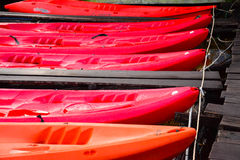 Red Kayak , Cheow Lan lake,  Thailand Stock Images