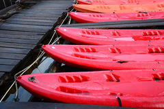 Red Kayak , Cheow Lan lake,  Thailand Stock Photography