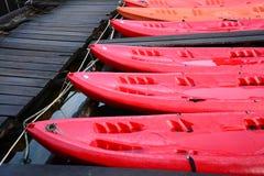 Red Kayak , Cheow Lan lake,  Thailand Stock Photography