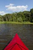 Red Kayak Lake Royalty Free Stock Images