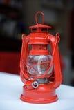 Red kerosene lamp Stock Photos