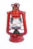 Red kerosene lantern Stock Photography