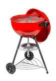 Red kettle grill. In front of white background Royalty Free Stock Photos