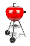Red kettle grill. In front of white background Stock Photography