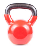 Red kettlebell isolated on white. Background Royalty Free Stock Images