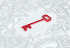 Red Key Abstract Royalty Free Stock Photo