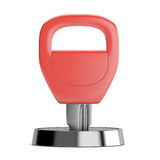 Red key in keyhole Royalty Free Stock Photo
