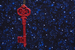 Red Key Ornament Royalty Free Stock Photo