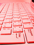 Red keyboard Stock Photo
