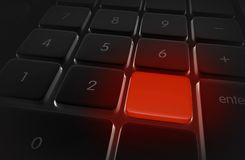 Red Keyboard Alert Button Royalty Free Stock Photo
