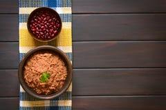 Red Kidney Bean Spread Stock Photo