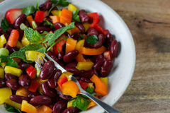 Red kidney beans in bowl Royalty Free Stock Image