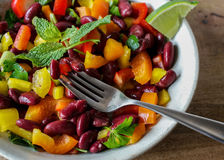 Red kidney beans in bowl Stock Photography