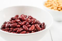 Red Kidney Beans And Chickpeas. Canned Red Kidney Beans And Chickpeas Royalty Free Stock Image
