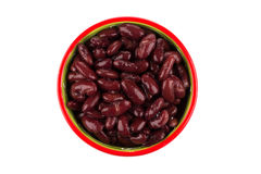 Red kidney beans in a dish Stock Images