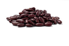 Red Kidney Beans side view. Isolated on white with path Stock Images