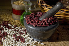 Red kidney beans and white beans Stock Photography
