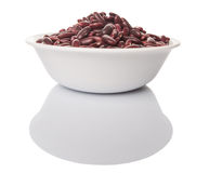 Red Kidney Beans IN White Bowl II Royalty Free Stock Photo