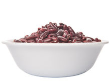 Red Kidney Beans IN White Bowl VI Royalty Free Stock Photography