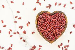 Red kidney beans. In wooden bowl - Healthy and Nutrition food concept Stock Photo