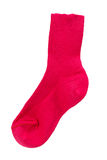 Red kids cotton socks, isolated Royalty Free Stock Photos