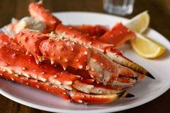 Red king crab legs Stock Photos