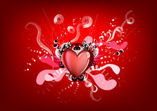 Red king of hearts Stock Images