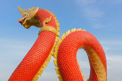 Red King of serpent statue Stock Images
