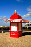 Red kiosk. City details of a sales place Royalty Free Stock Images