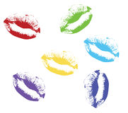 Red kiss lips Vector illustration. Colored kiss lips Vector illustration Stock Image