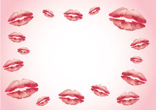Red kisser lips background Royalty Free Stock Photo