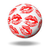 Red kisses Royalty Free Stock Photography