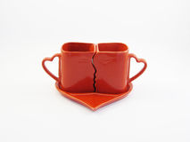 Red kissing cups Stock Photo