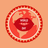 Red kissing lips Royalty Free Stock Photos