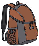Red kit bag. Vector illustration of hand-drawn red kit bag Stock Photos
